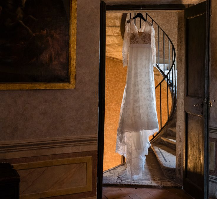 Hang your #weddingdress in a 600 years old #exclusivevenue