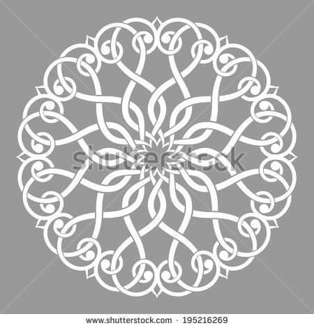 Arabesque Decor Mandala Vector Illustration