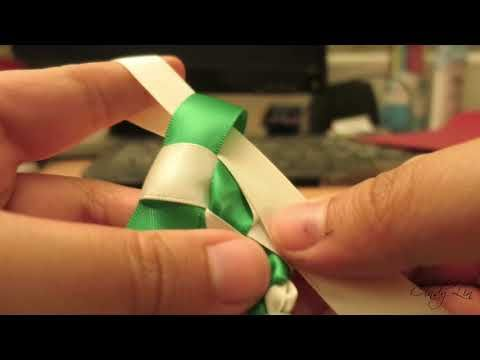Easy Tutorial: Two-Colored Ribbon Lei – YouTube