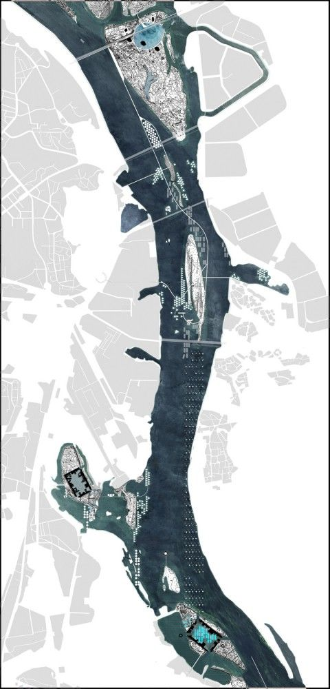 Tactical Archipelago Conceptual Master Plan, Kiev Islands // LCLAOFFICE / #architecture #drawing #diagram