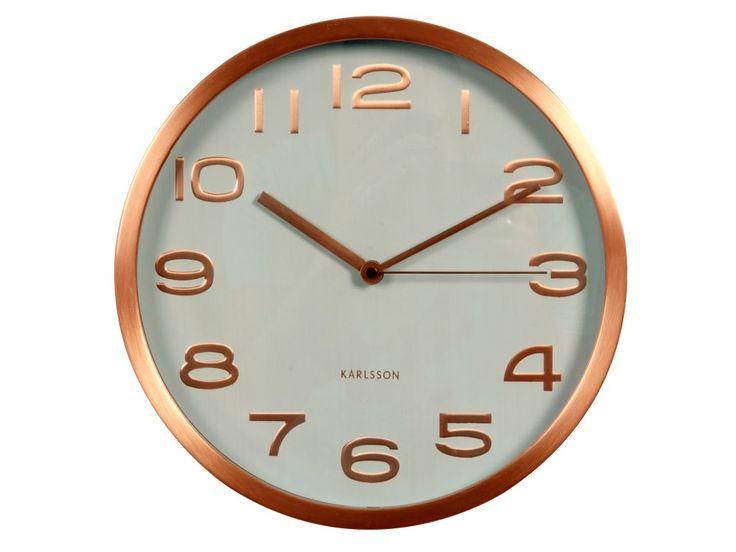 Zegar ścienny Maxie copper numbers white by Karlsson