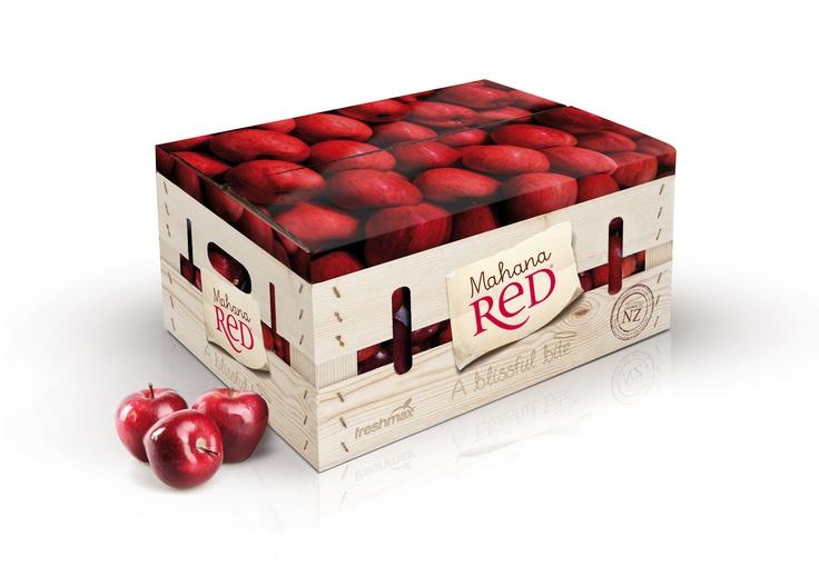 Mahana Red packaging, New Zealand.