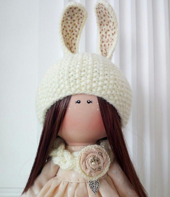Cloth Rag Doll Beige Nursery Doll Love Winter Doll Fabric Tilda Doll Textile Soft Doll Christmas Baby Room Handmade Doll Poupée by Olga K _____________________________________________________________________________________ Hello, dear visitors! This is handmade cloth doll created