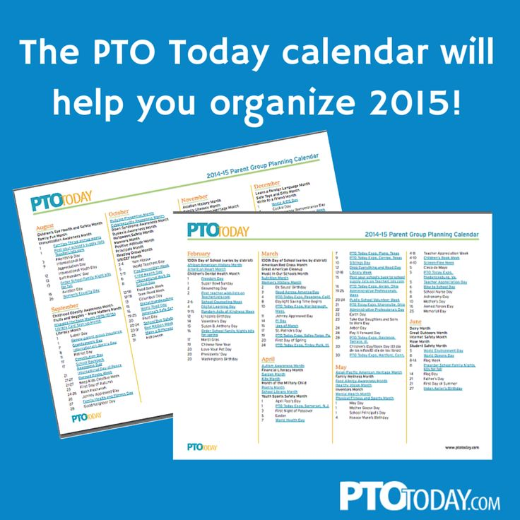 Our calendar can help with planning for 2015.