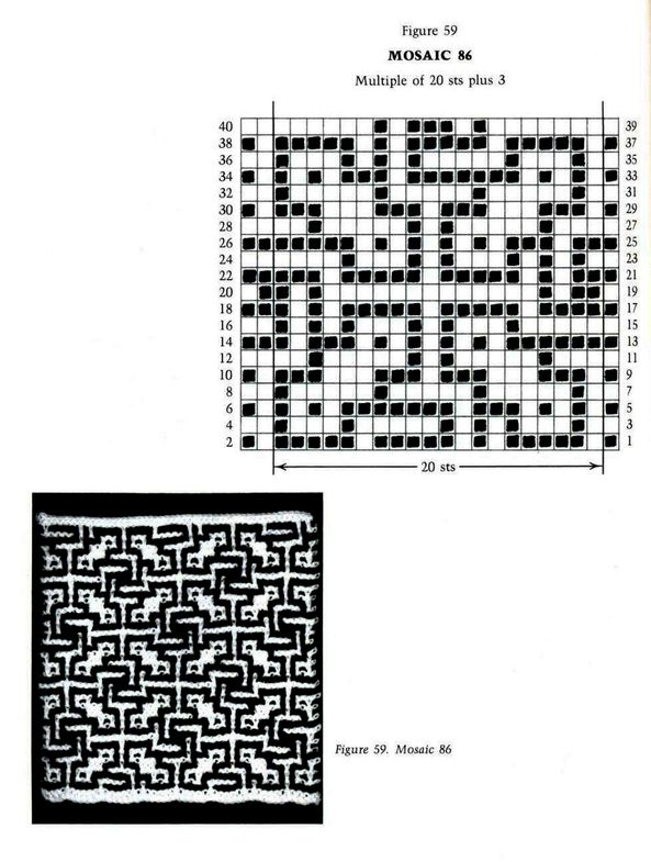 Mosaic Knitting Barbara G. Walker (Lenivii gakkard) Mosaic Knitting Barbara G. Walker (Lenivii gakkard) #77