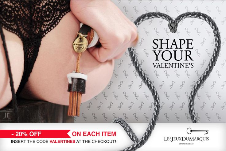 """Shape yours Valentine's: -20% Off! Use the code """"VALENTINES"""" at the Checkout #SanValentino #ValentineDay #regalo #gift #erotic #accessories"""