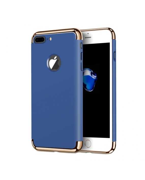 iphone 7 plus albastru electroplating 3in1