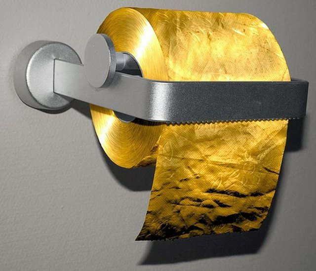 Most expensive---- 22 carat 3 ply Gold Flake Toilet Paper.  $1.3  million