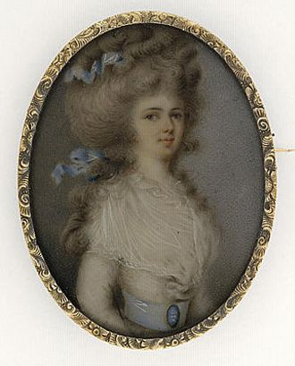 Portrait of a youg Lady by unknown artist,c.1780s