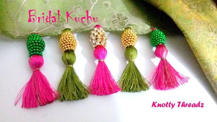 | DIY | How to make Designer Bridal Saree Kuchu / Tassels at Home in a v...