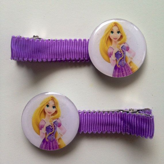 2 Princess Rapunzel Boutique Girls Lined Hair by OliverandMay, $4.75
