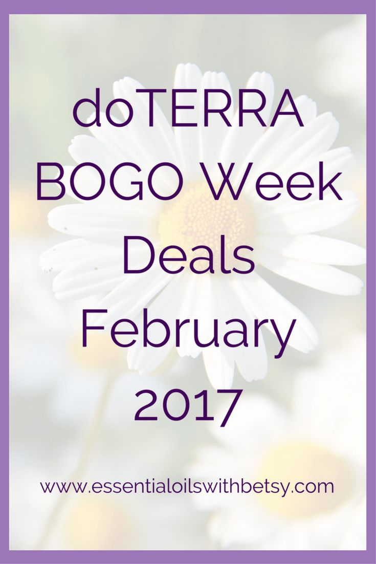 doTERRA BOGO Week Deals February 2017 Squeeeeaaal!!!! doTERRA Bogo week is BACK!! This post is updated daily with the latest Buy One Get One information from doTERRA International. Check back daily to find out the doTERRA deal of the day! Remember to bookmark this page, and share with your friends. Also, please join our Epic party over in Exploring Essential Oils! It's no fun shopping by yourself. Join us around the virtual kitchen table for some coffee (or tea!), usage tips on the BOGO…