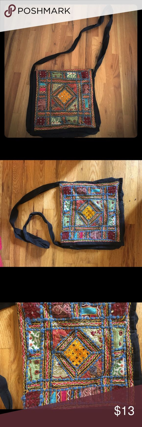 NWOT Crossbody bag from Indian fair trade I purchased this from a lovely woman at a fair trade market in a India. I have never been able to use it and would love to pass it on to someone who will! Bags Crossbody Bags