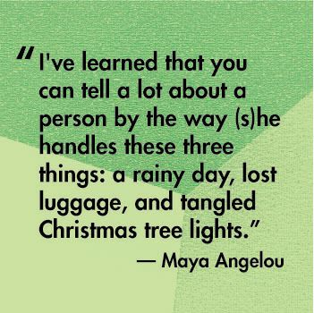 Maya Angelou quote: I've learned that you can tell a lot about