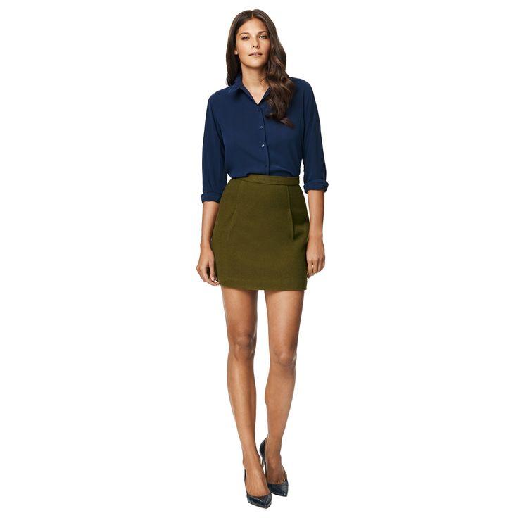 GANT Women's Mini A-Line Skirt Apple   Official Site