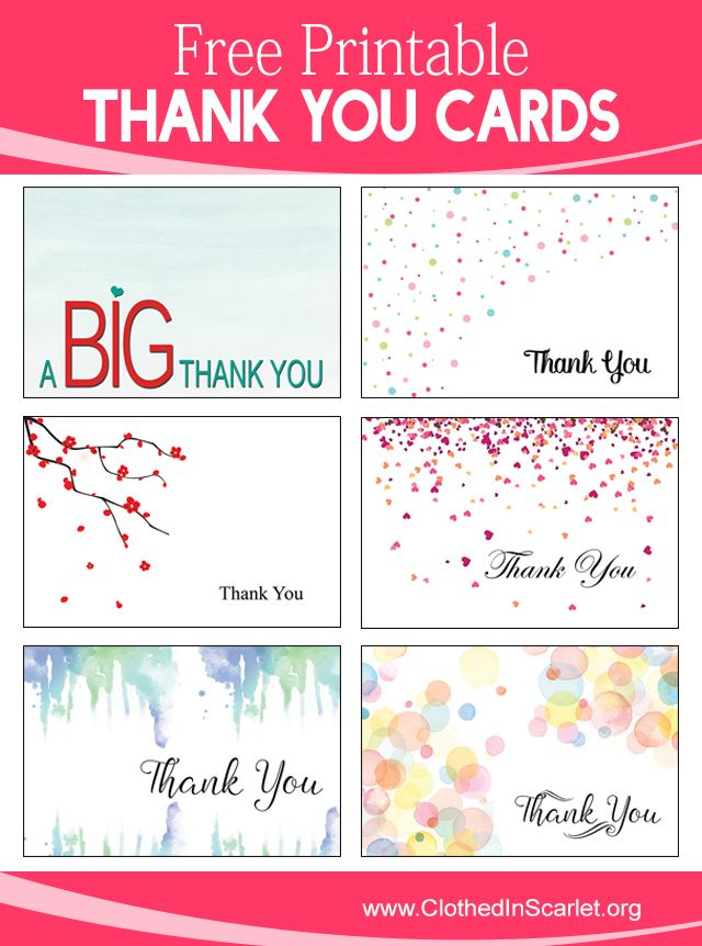 The 25+ Best Printable Thank You Cards Ideas On Pinterest | Free