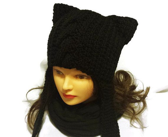 Check out this item in my Etsy shop https://www.etsy.com/ca/listing/245978956/cat-ear-beanie-black-cat-hat-goth-trends