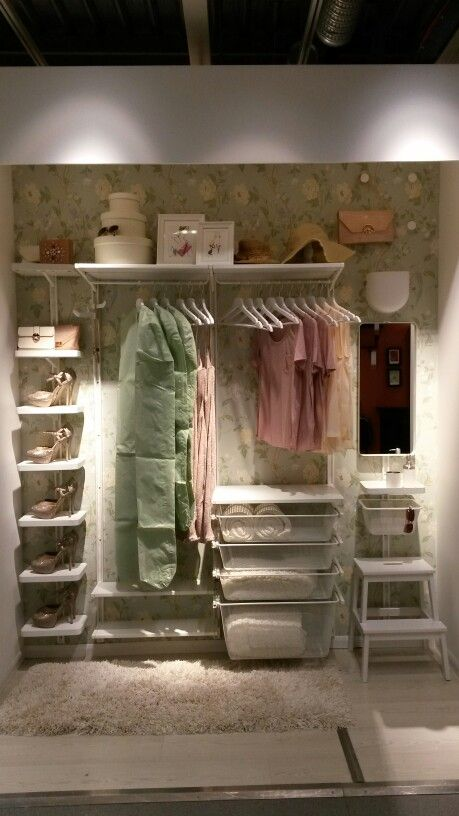 Ikea Algot built in wardrobe solution