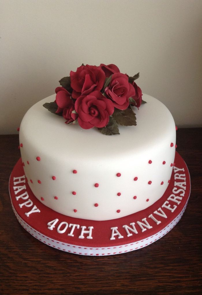 designs for ruby wedding cakes 30 best ruby anniversary cake ideas images on 13479
