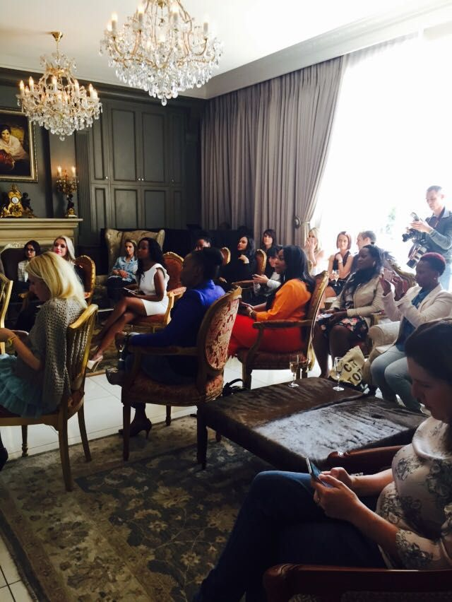 Media at the GoBeauty launch Johannesburg 7th May 2015, Munro hotel