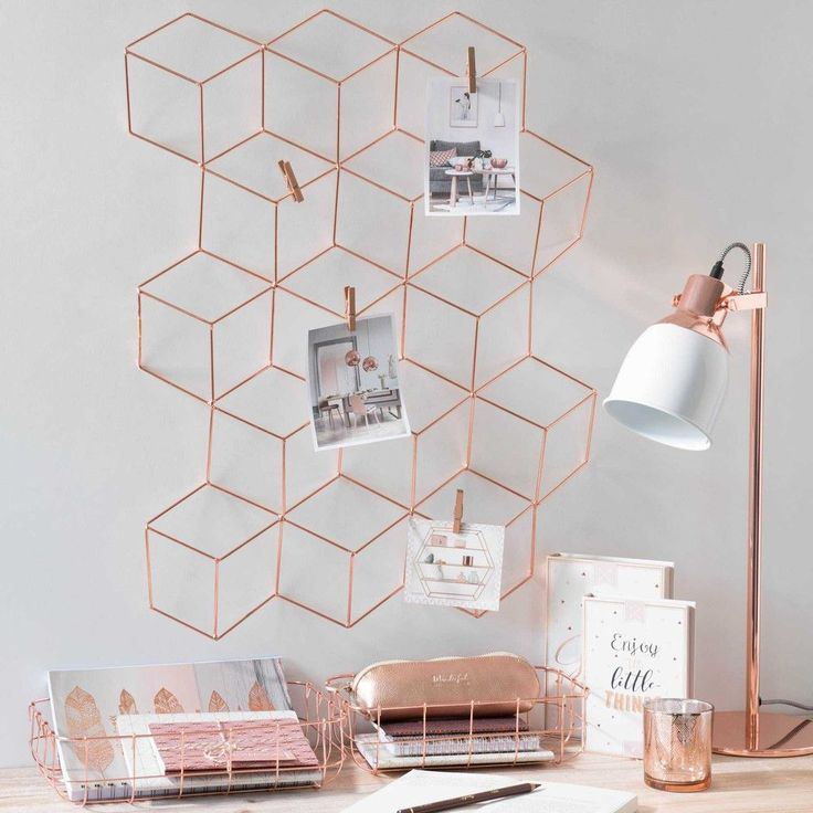 MODERN COPPER metal photo memo board ...