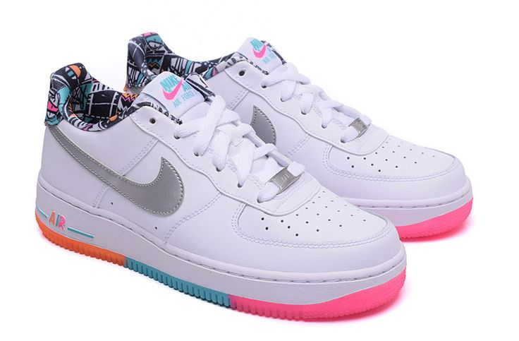 Nike Air Force Bajo Top Hombre Scrawl Blanco