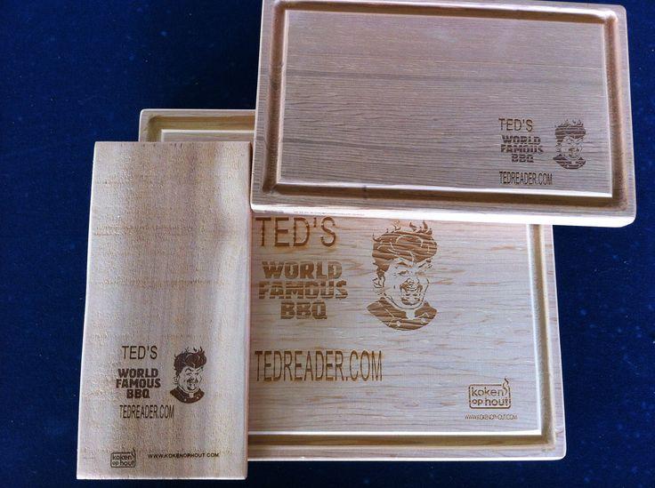 Ted Reader ontving de CedarWood OvenPlanken en BbqPlank en ging ermee aan de slag....