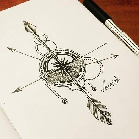 arrow #Pfeile #Kompass #Kunst #Kunstliebhaber #Zentangle #Zeichnen …