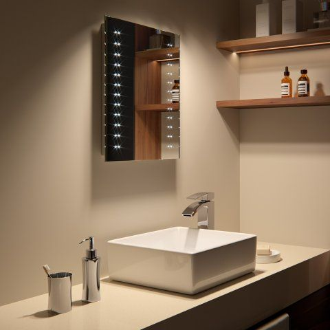 390x500mm Galactic LED Mirror - Battery Operated [PT-MC145] - £99.99 : Platinum Taps & Bathrooms
