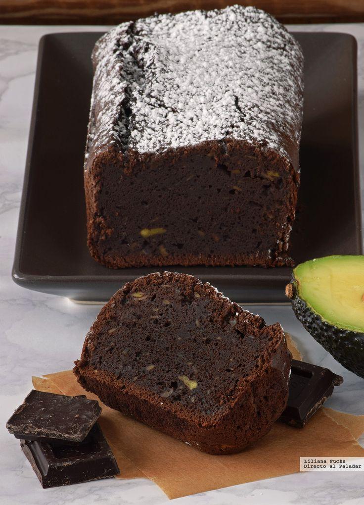 Bizcocho fondant de chocolate y aguacate