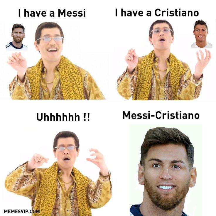 Meme PPAP Messi Cristiano.#2018 #2019 #detodo #chistes #meme #memes #momos #español #memesenespañol #memesvip #chistecorto #humor #funny #risa #lol #chistesmalos #comparte #funnypictures #messi #argentina #ronaldo #fcbarcelona #realmadrid #soccer #football
