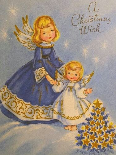 A Christmas Wish - vintage card