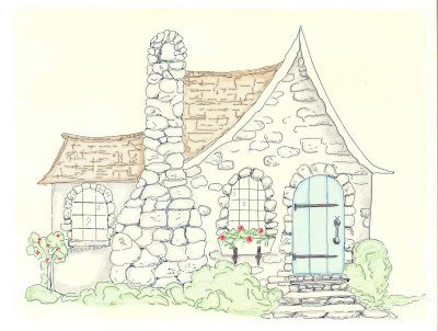 Gingerbread Cottage: My Little Stone Cottage: Gingerbread House Ideas Stones, Embroidery Patterns, Gingerbread Cottages, House Art, Dreams Cottages, Cottages Illustrations, Cottages Too And, Stones Cottages Looks, Cottages Drawings