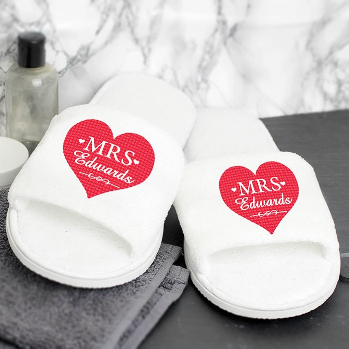 51 best personalised mr mrs gifts images on pinterest wedding wedding gift ideas mr mrs velour slippers personalised gifts negle Choice Image
