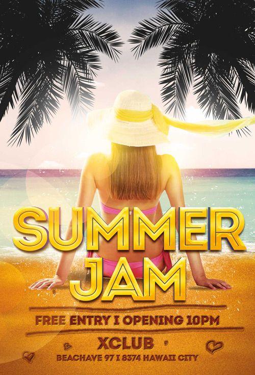 """Plantilla gratis PSD """"Summer Jam"""""""