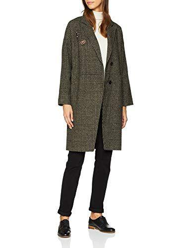 Vero Moda Vmnorth 3 4 Jacket Manteau Femme Multicolore (Peat Detail  Black  Check 806946ac27ee