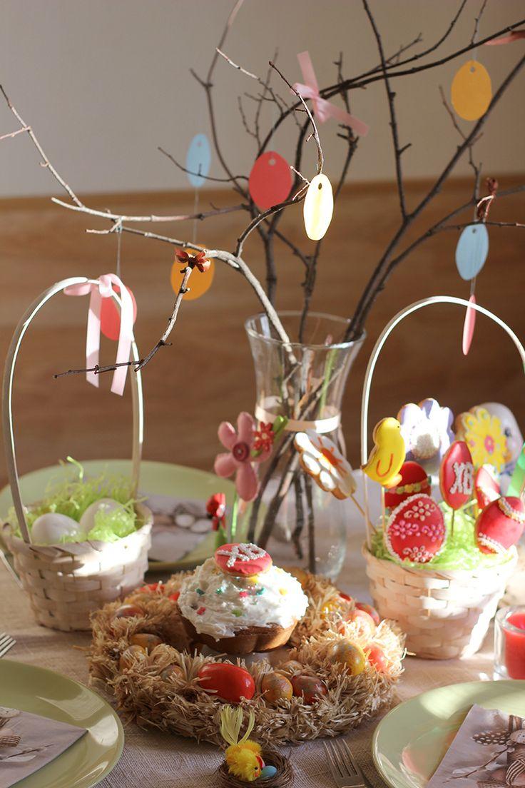 Украшаем стол к Пасхе - Полавкам. Easter decor for the table.