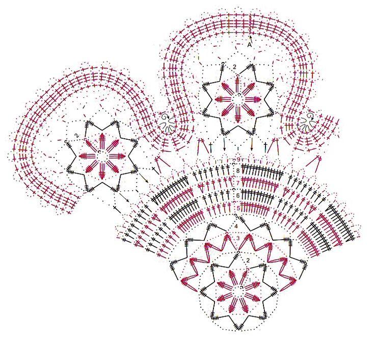 Круглые салфетки крючком со схемами