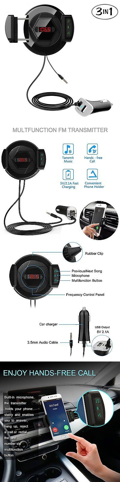FM Transmitters: Bluetooth Fm Transmitter, Car Bluetooth Kit With [Usb Fast Car Hands Free Phone -> BUY IT NOW ONLY: $44.29 on eBay!