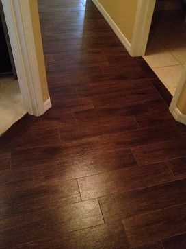 Porcelain Wood Look Tile Design Ideas, Pictures, Remodel, and Decor