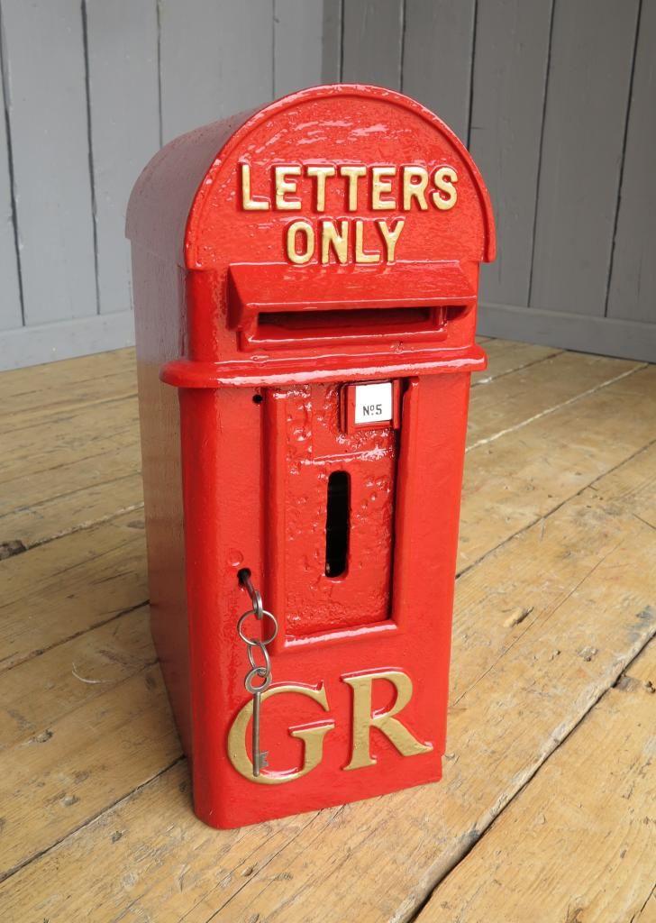 Original Pole Mounted Royal Mail Gr Post Box Post Boxes