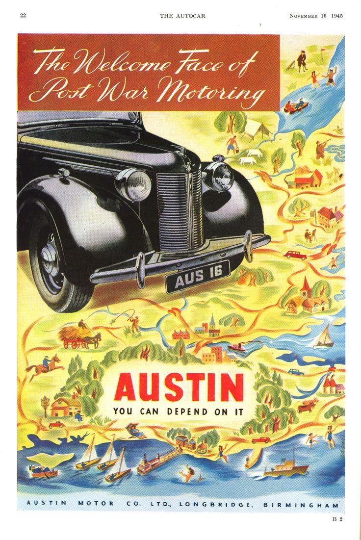 Austin Car Autocar Advert 1945 - You can depend on it
