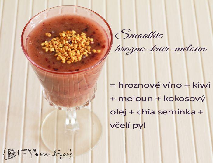 Smoothie No1 - hrozno-kiwi-meloun - osvěžte se s nimi!