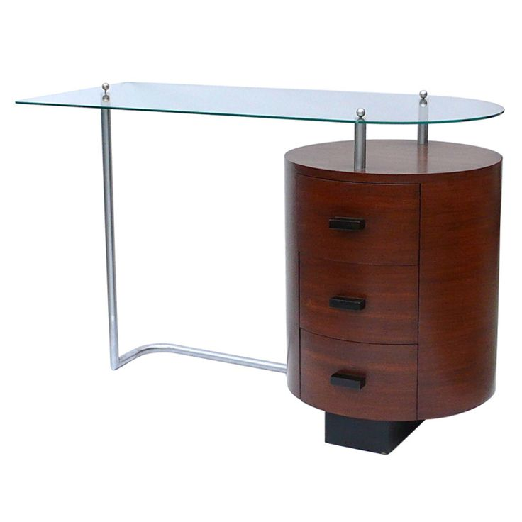 Rare art deco desk by gilbert rohde for herman miller