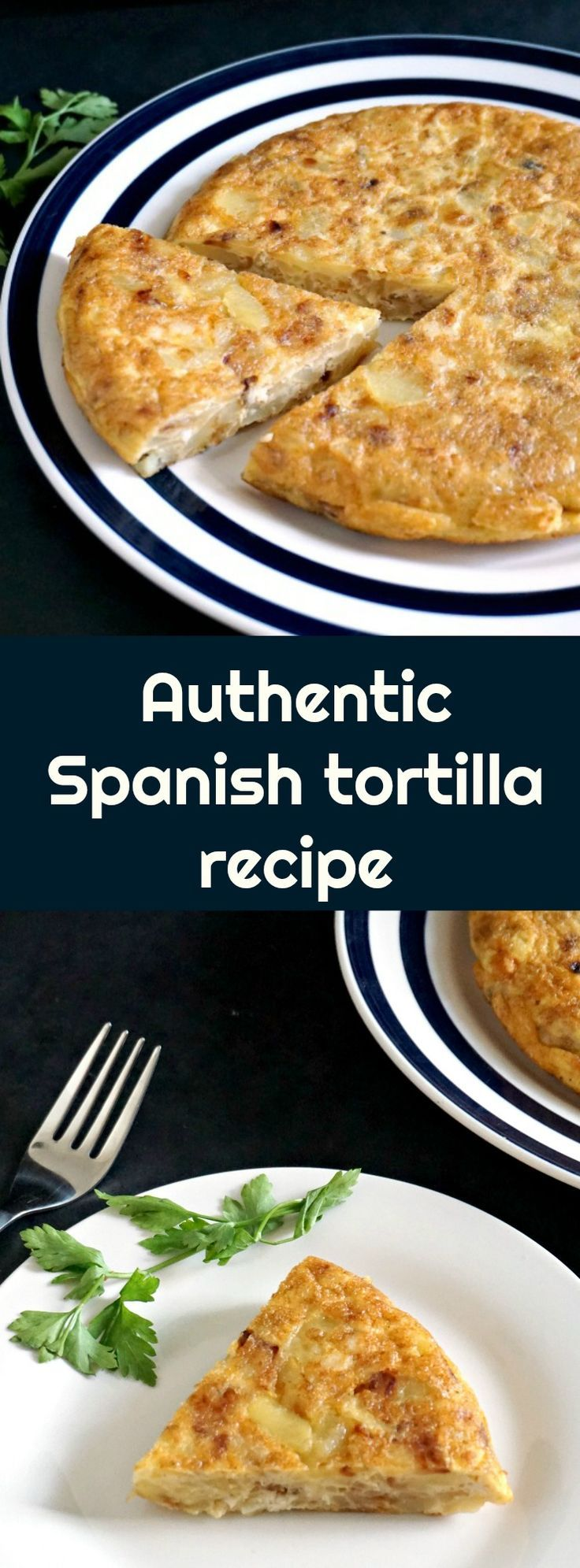 This Authentic Spanish tortilla recipe, the very famous Tortilla española is the most delicious potato omelette, and one of many amazing tapas that the Spanish cuisine is well known for.