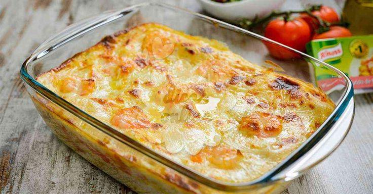 Não Perca!l Aprenda a receita de bacalhau assado com camarões! - # #alho #Aspargo #assado #azeite #bacalhau #camarões #cebolas #Pimenta