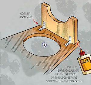 Step-by-step directions for building a raised pet-bowl stand to provide a comfortable place for your dog or cat to eat and drink.