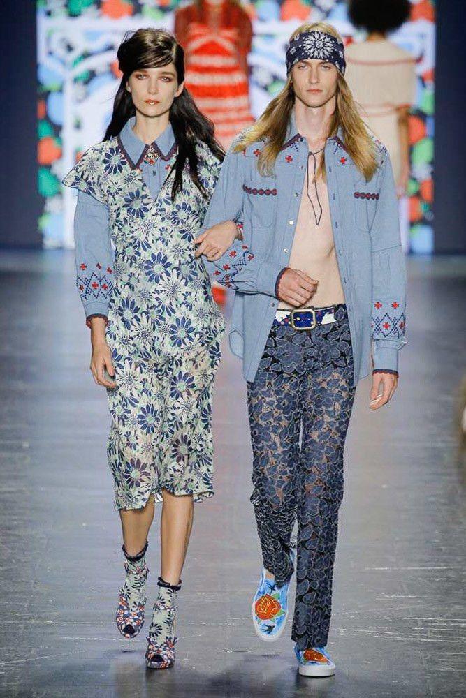 Anna Sui коллекция   Коллекции весна-лето 2017   Нью-Йорк   VOGUE