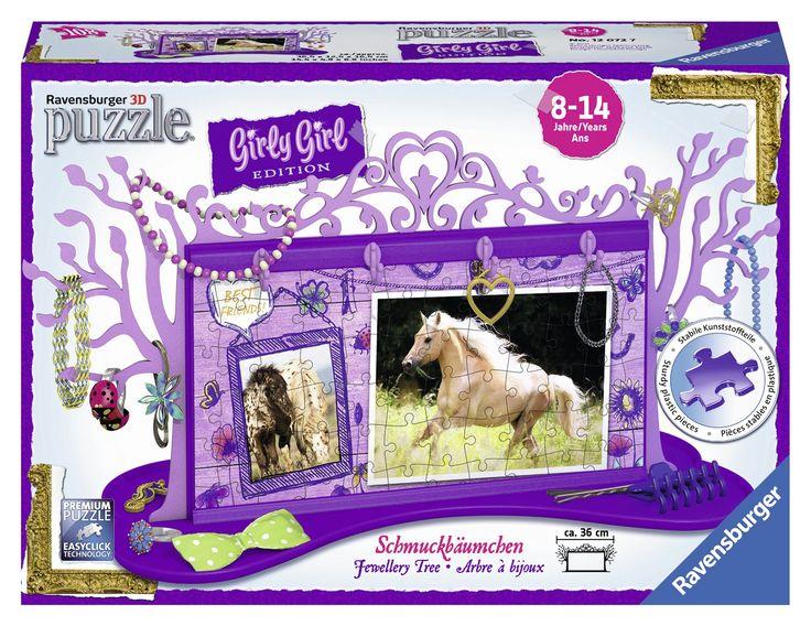 Girly Girl Edition 3D Puzzle für Mädchen Schmuckbäumchen Pferde