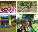 The KidzSpot Party Venues are situated in the gardens under a beautiful old tree which transforms into a kiddie's paradise where children can enjoy fun-fulfilled mornings or afternoons. The venues are private and have their own spacious, well-equipped play areas. There is a 5 x 10 m thatched lapa with a braai at each venue and they have their own private toilet and baby changing facilities.